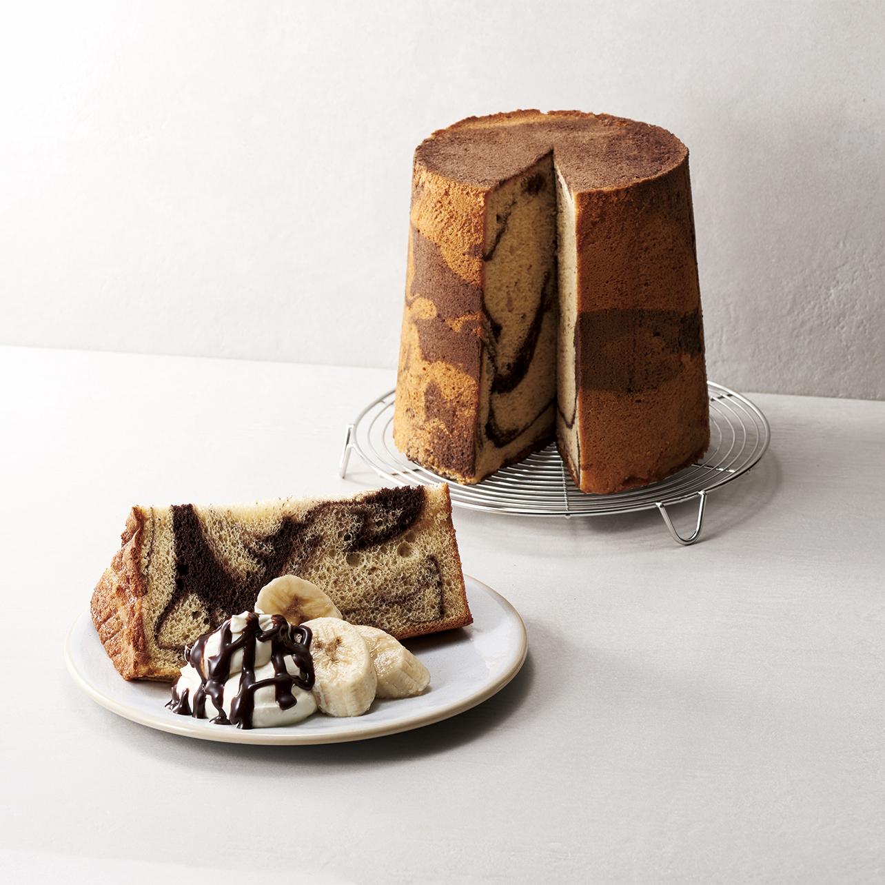 チョコバナナシフォンケーキ