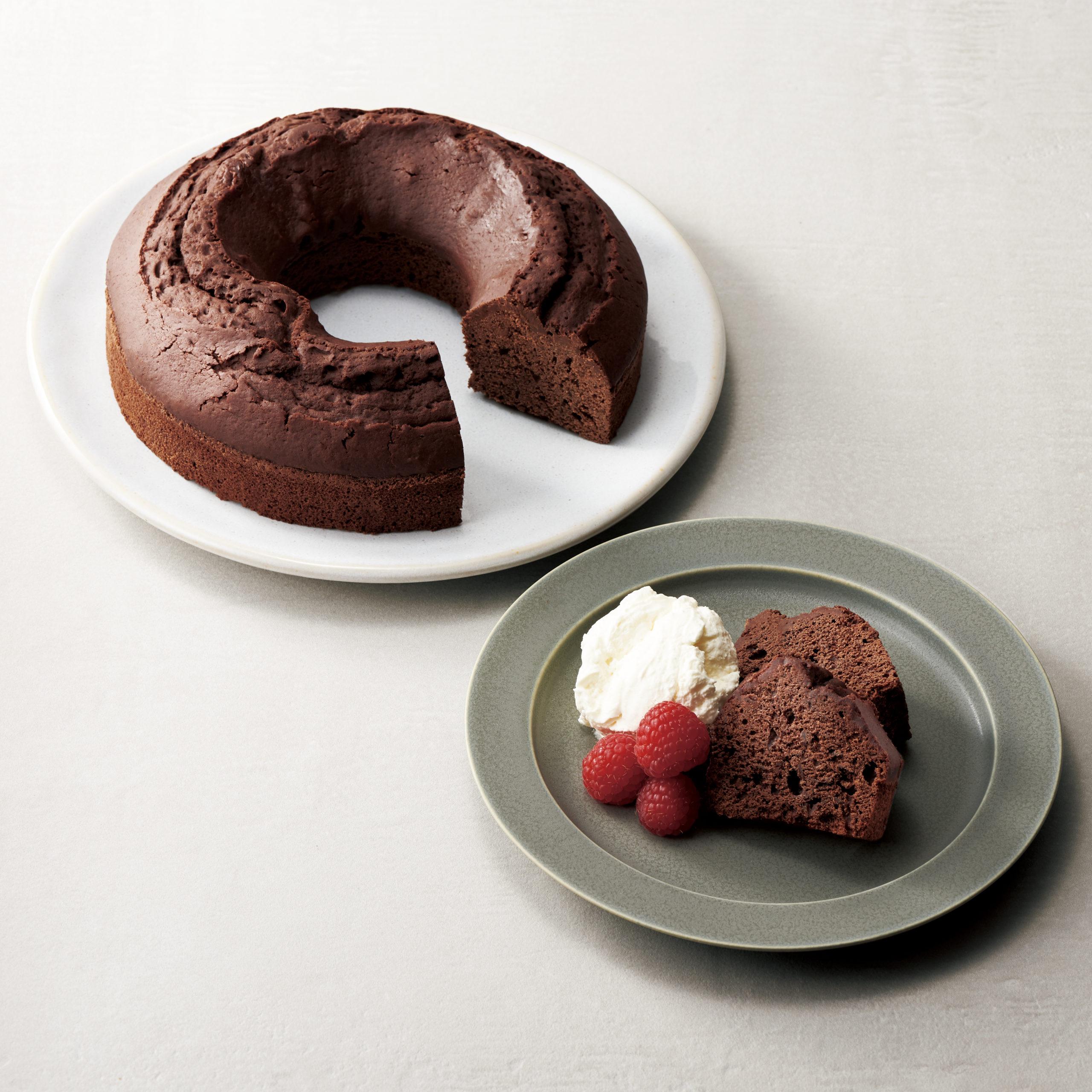 レンタインダブルチョコレートケーキ